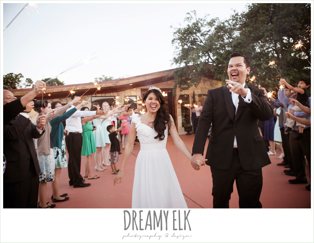 wedding send off with sparklers, fringe events and design, la hacienda, dripping springs, texas {dreamy elk photography and design} photo
