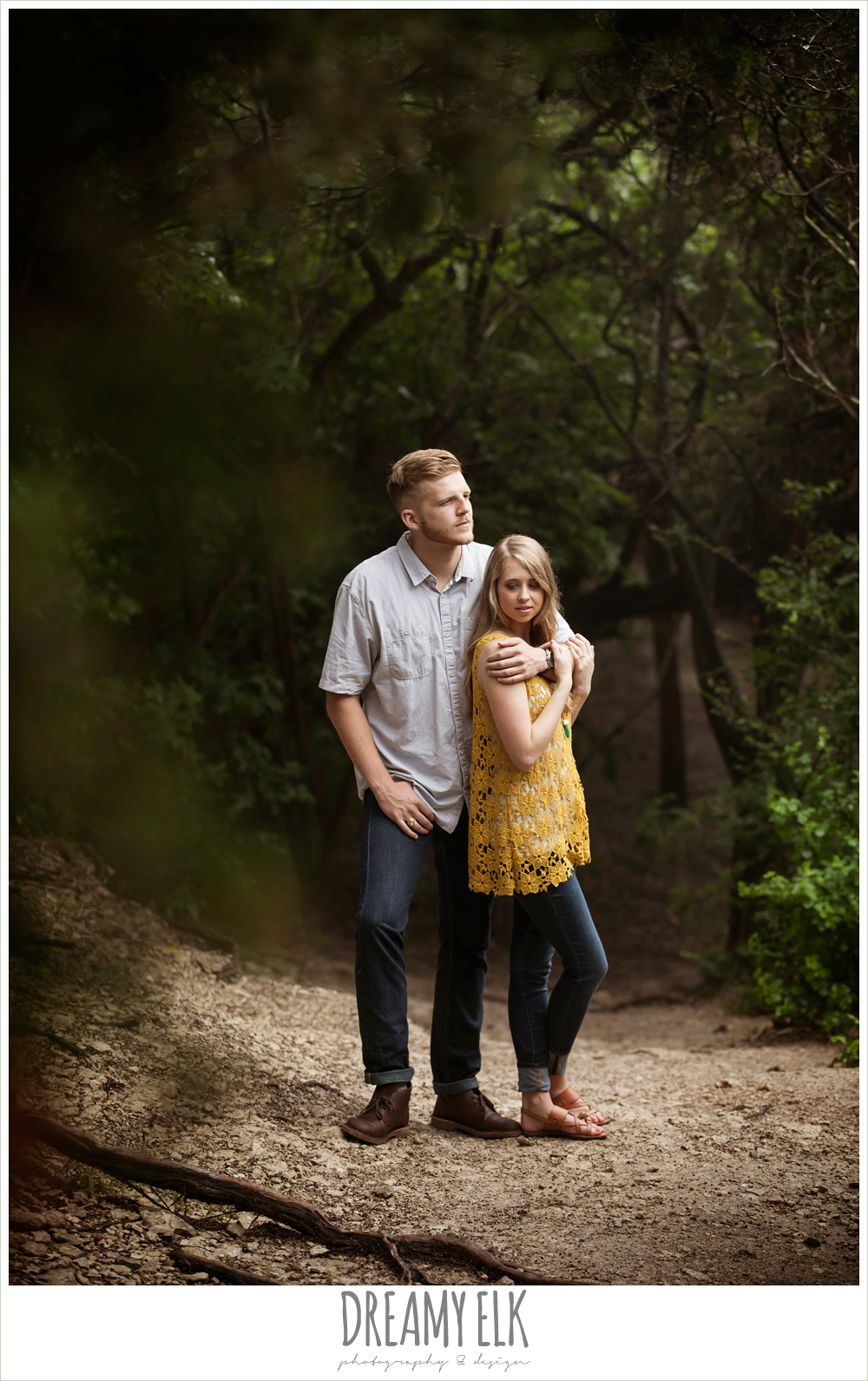 overcast engagement photo, walnut creek park, austin, texas {dreamy elk photography and design}