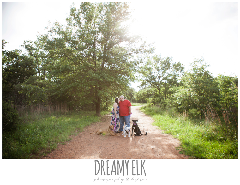 college station engagement photo with dogs {dreamy elk photography and design}