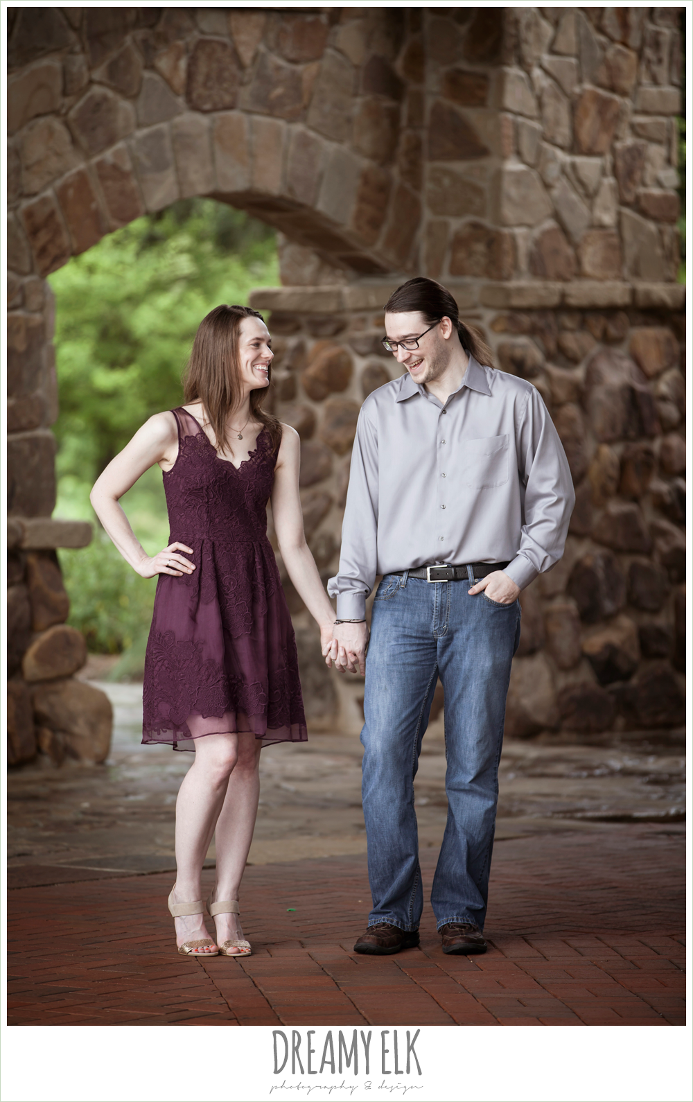 the woodlands, texas, spring outdoor engagement photo {dreamy elk photography and design}