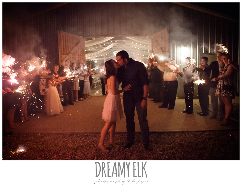 fire sparkler exit, pine lake ranch, rustic wedding photo {dreamy elk photography and design}