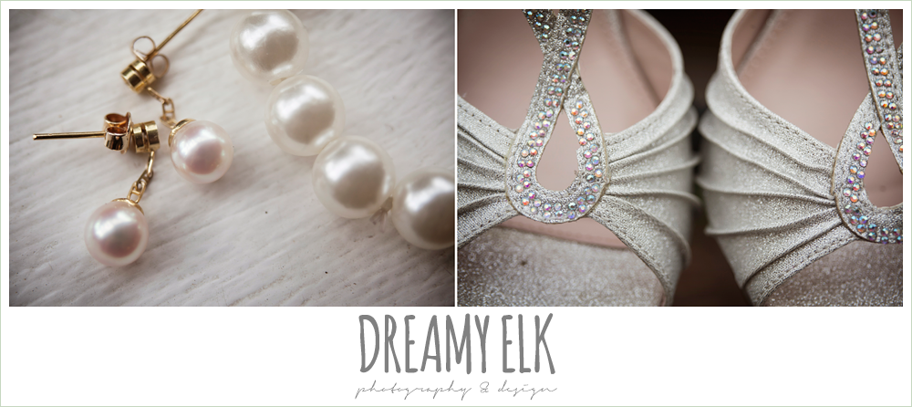 blush pearl wedding jewelry, silver wedding shoes, northeast wedding chapel, photo {dreamy elk photography and design}