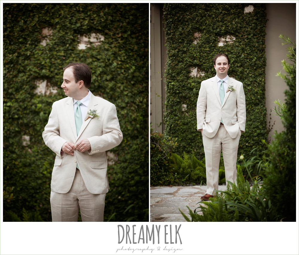 groom in linen suit, nautical theme wedding, horseshoe bay resort, photo {dreamy elk photography and design}