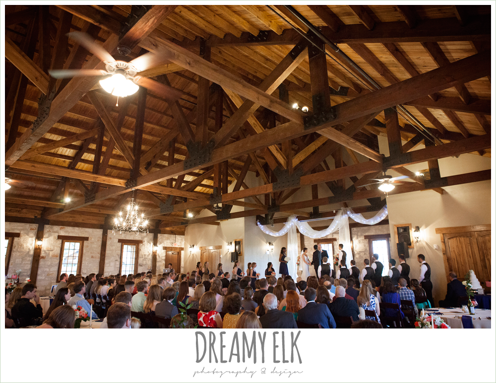 indoor wedding ceremony, pecan springs, houston, texas, photo {dreamy elk photography and design}