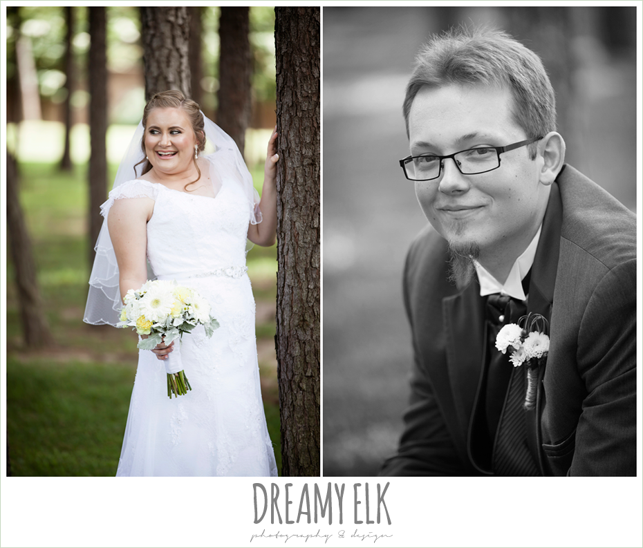 outdoor bridal portrait, groom, amber springs summer wedding photo {dreamy elk photography and design}