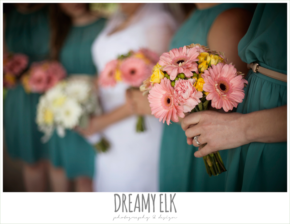 pink bouquets, heb blooms, amber springs summer wedding photo {dreamy elk photography and design}