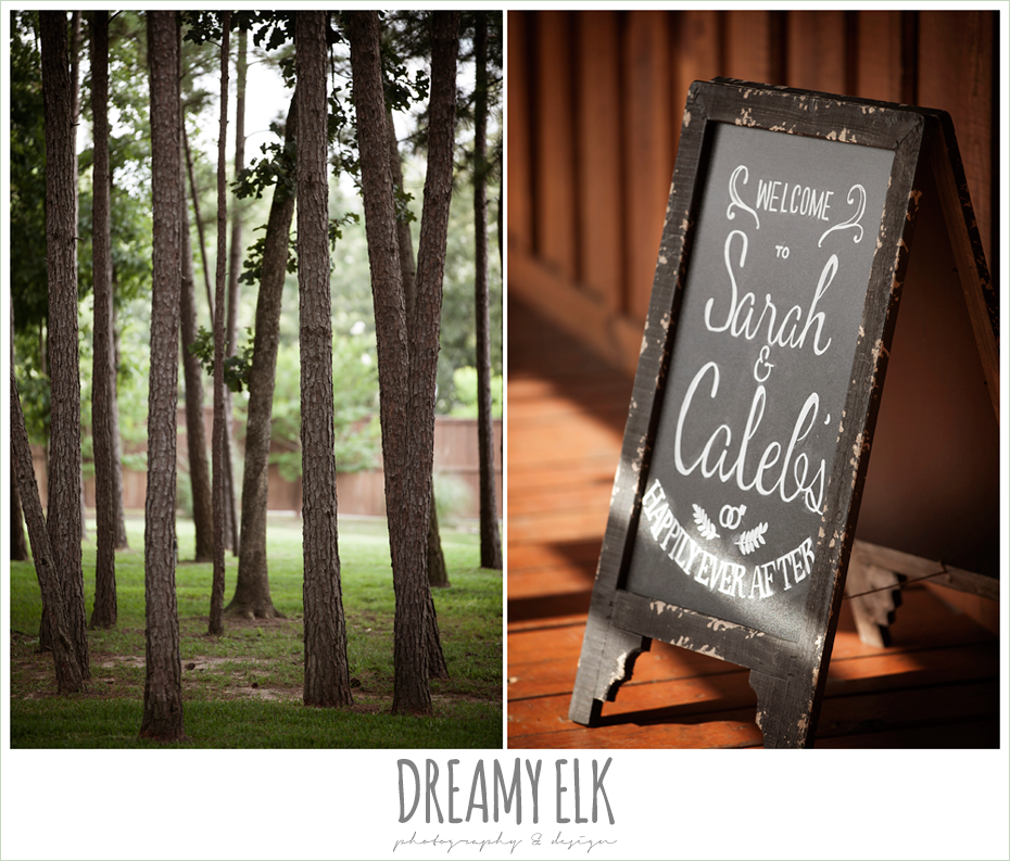 chalkboard wedding sign, amber springs summer wedding photo {dreamy elk photography and design}
