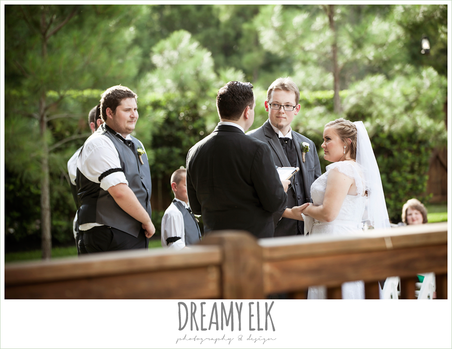 outdoor summer wedding ceremony, amber springs summer wedding photo {dreamy elk photography and design}