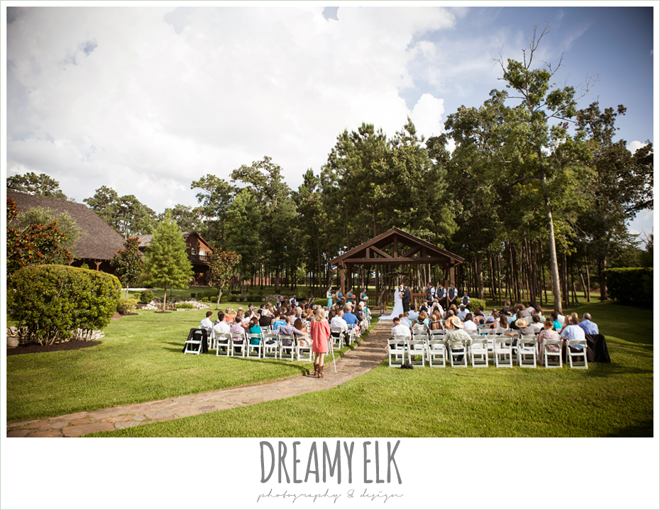 outdoor summer sunny wedding ceremony, amber springs summer wedding photo {dreamy elk photography and design}