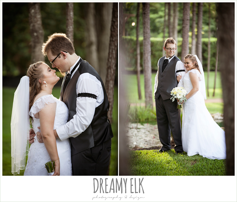 outdoor bride and groom portraits, amber springs summer wedding photo {dreamy elk photography and design}