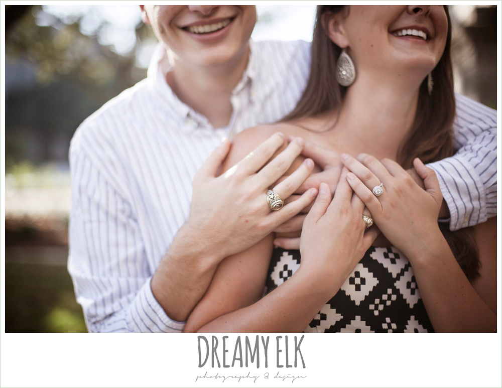 engagement ring and aggie ring, dressy casual wardrobe, texas a&m campus engagement photo, texas {dreamy elk photography and design}