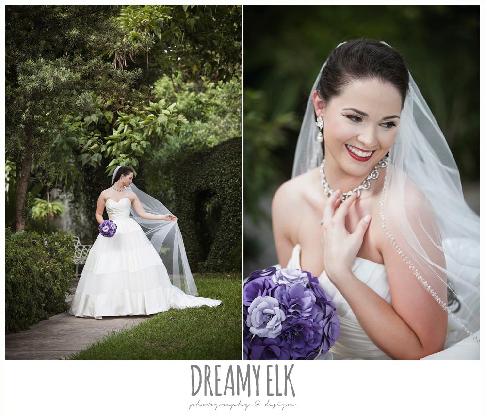 Outdoor Bridal Portrait Satin Ball Gown Wedding Dress Paper Flower Bouquet Makeup