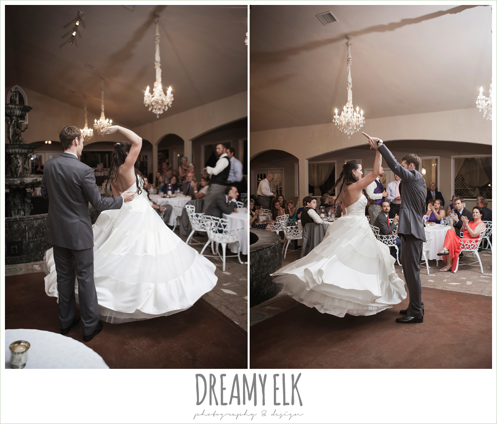 bride and groom dancing, ball gown, heather's glen summer wedding photo, houston, texas {dreamy elk photography and design}