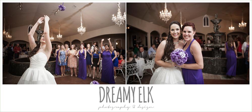 bouquet toss, heather's glen summer wedding photo, houston, texas {dreamy elk photography and design}
