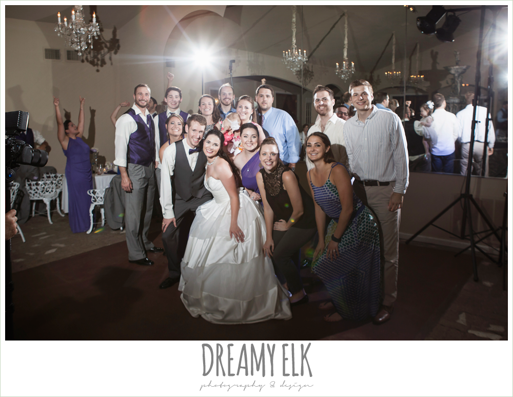 guests dancing at wedding reception, heather's glen summer wedding photo, houston, texas {dreamy elk photography and design}