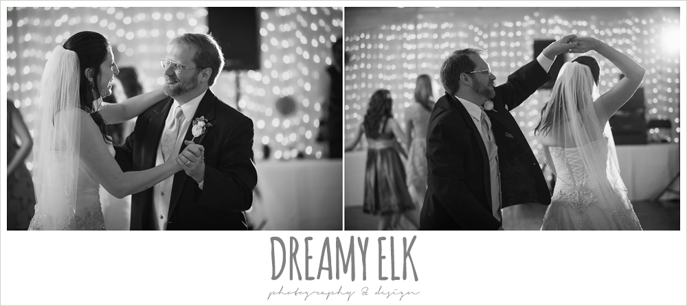 bride and groom dancing, guests dancing at wedding reception, indoor wedding reception, magnolia lake, summer wedding photo {dreamy elk photography and design}