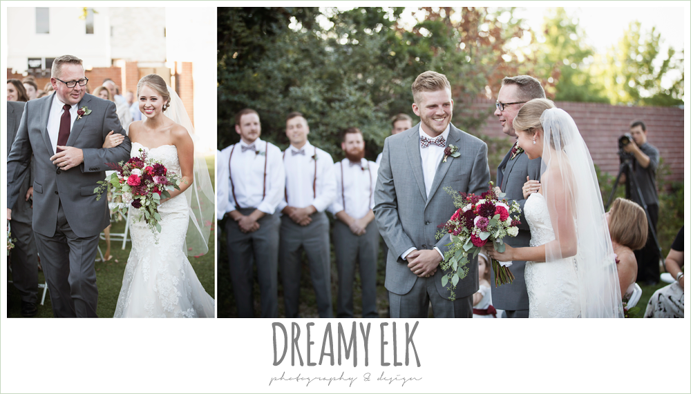 bride walking down the aisle, wedding ceremony, the union on 8th wedding photo {dreamy elk photography and design}