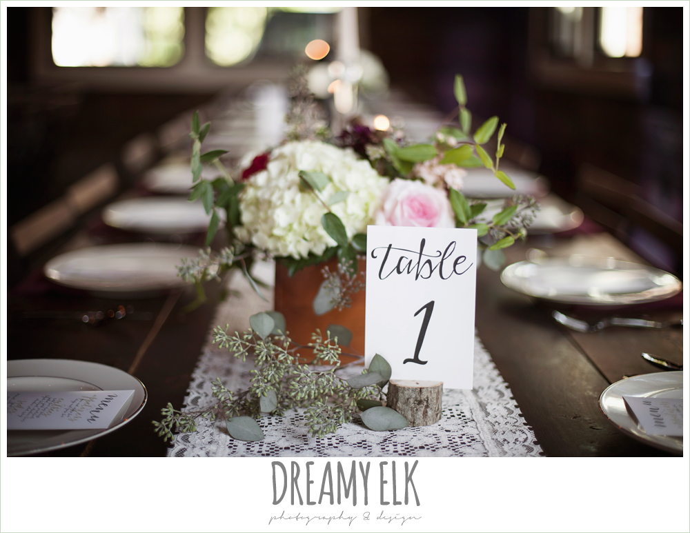 table centerpieces, table numbers, wedding reception decor, the union on 8th wedding photo {dreamy elk photography and design}
