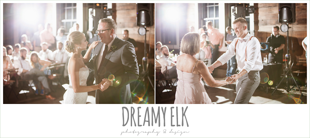 mother son dance, father daughter dance, the union on 8th wedding photo {dreamy elk photography and design}