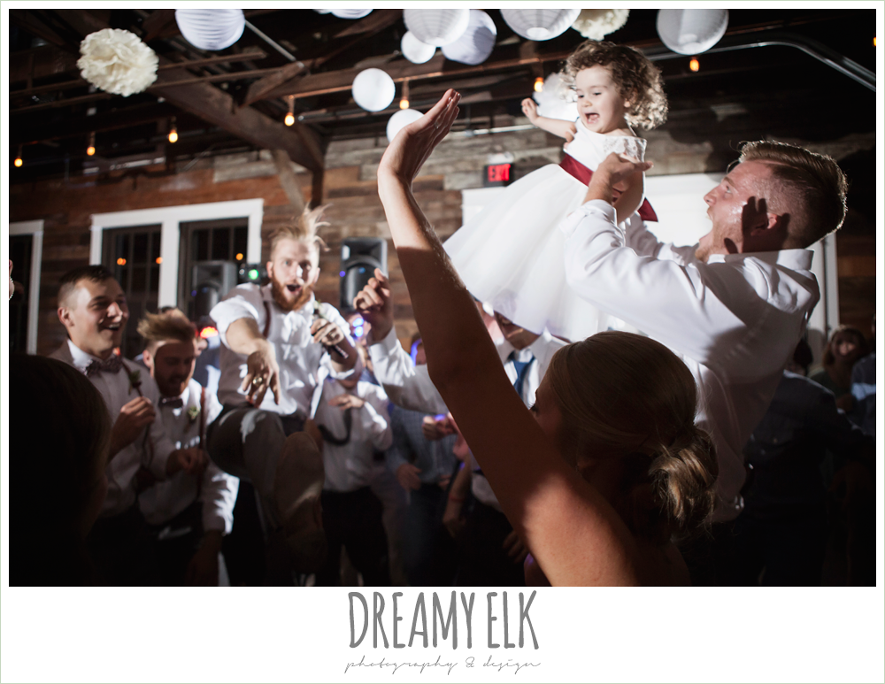 guests dancing at wedding reception, the union on 8th wedding photo {dreamy elk photography and design}