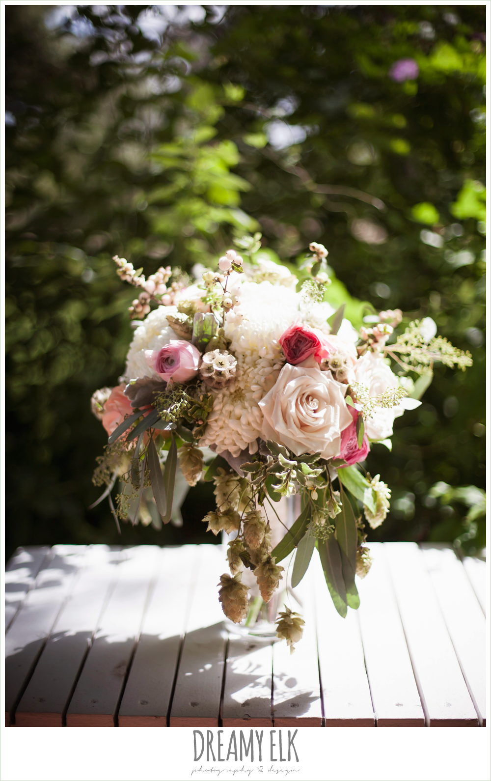 blush neutral unique wedding bouquet, bouquets of austin, the winfield inn, wedding photo {dreamy elk photography and design}