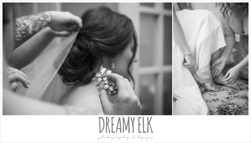 putting on wedding veil, the winfield inn, wedding photo {dreamy elk photography and design}