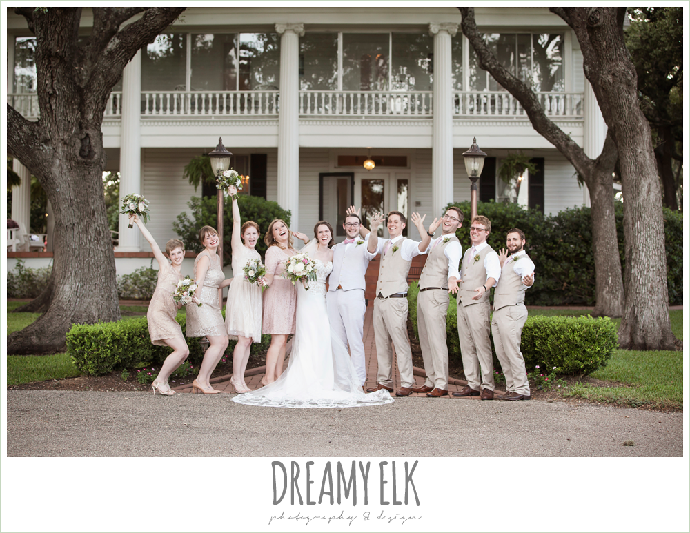 outdoor wedding bridal party, blush tones, the winfield inn, photo {dreamy elk photography and design}