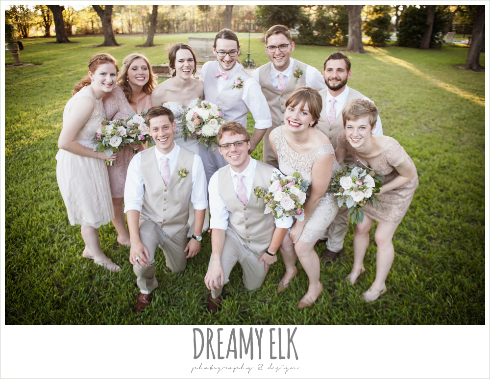 funny bridal party group photo, blush tones wedding, the winfield inn, photo {dreamy elk photography and design}