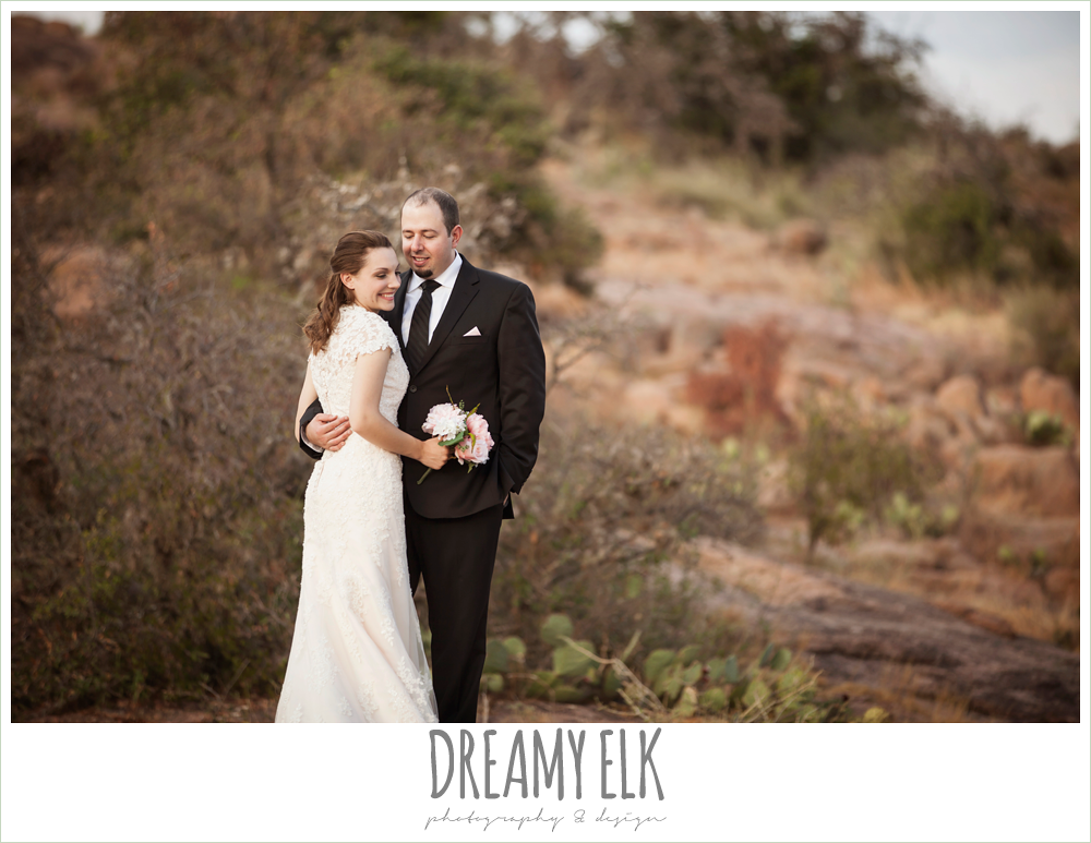 sunset post wedding photos, bride and groom, enchanted rock, fredericksburg, texas {dreamy elk photography and design}