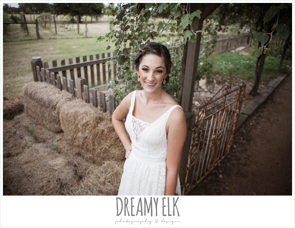 country rustic bridal portrait, lavender wedding bouquet, the amish barn at edge {dreamy elk photography and design}