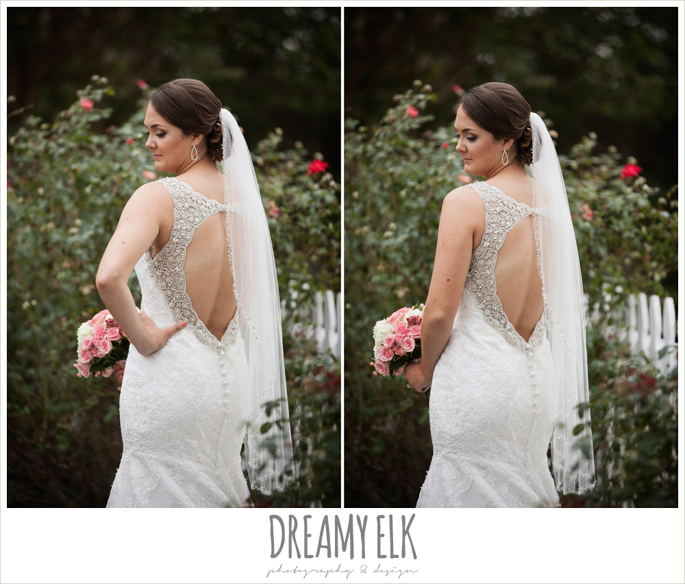 outdoor bridal portrait, backless wedding dress, trumpet silhouette, ashelynn manor {dreamy elk photography and design}