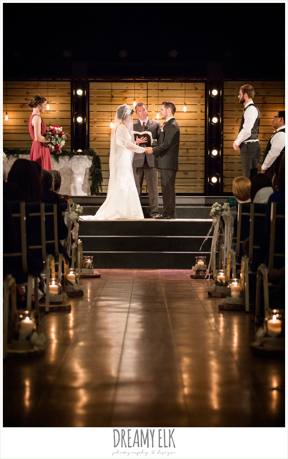 indoor winter december church ceremony wedding photo {dreamy elk photography and design}