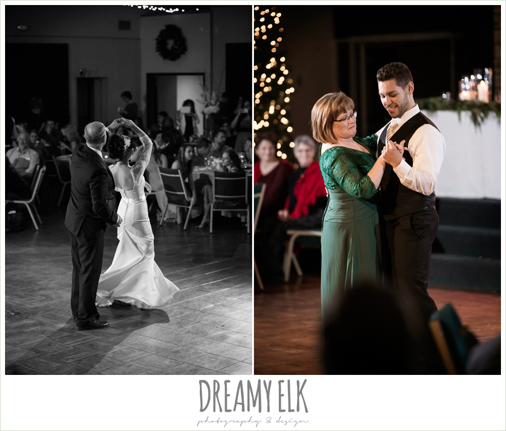 father daughter dance, mother son dance, winter december church wedding photo {dreamy elk photography and design}
