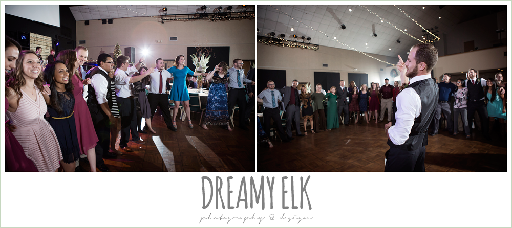 aggie war hymn at wedding reception, winter december church wedding photo {dreamy elk photography and design}