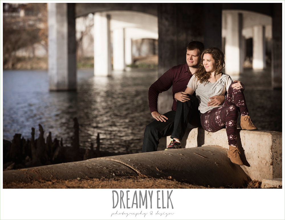 outdoor winter auditorium shores engagement photo, austin, texas {dreamy elk photography and design}