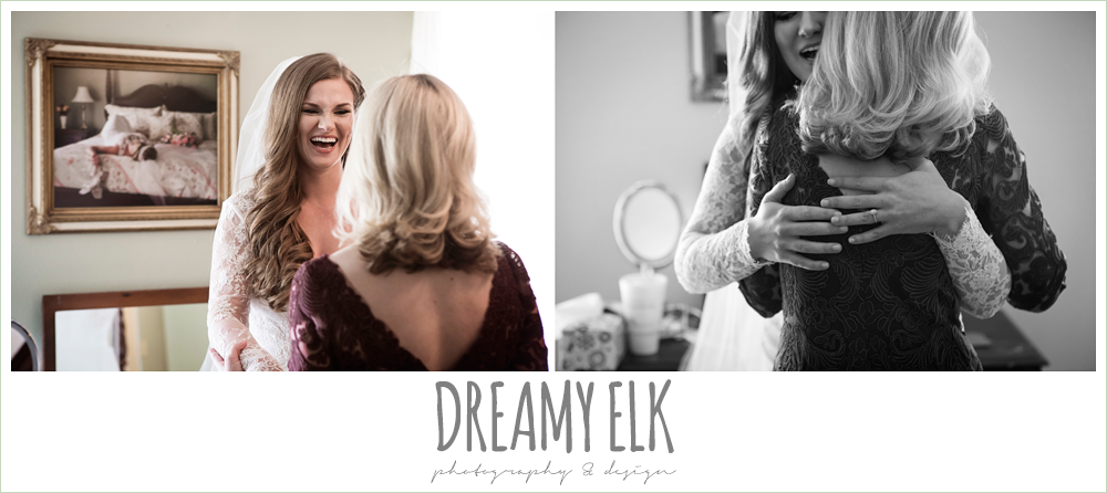 bride hugging mom, morning winter january wedding, ashelynn manor {dreamy elk photography and design}