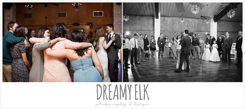 bride and groom dancing at wedding reception, morning winter january wedding, ashelynn manor {dreamy elk photography and design}