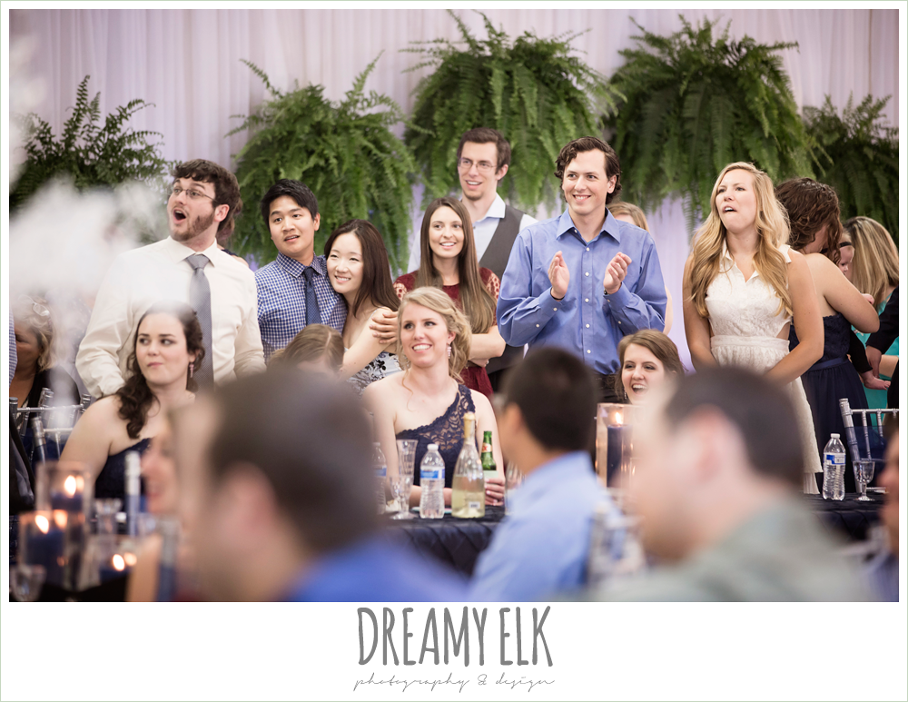 guests at wedding reception, april spring wedding reception, houston, texas {dreamy elk photography and design}