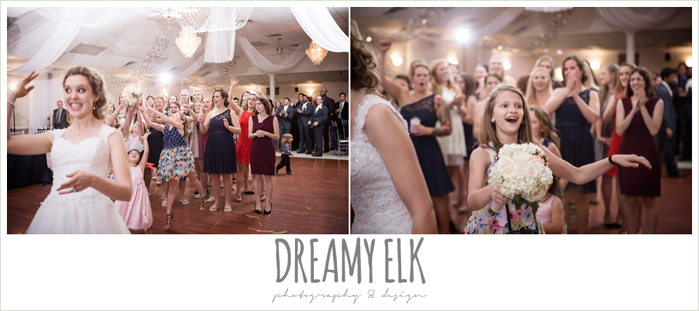 bouquet toss, april spring wedding reception, houston, texas {dreamy elk photography and design}