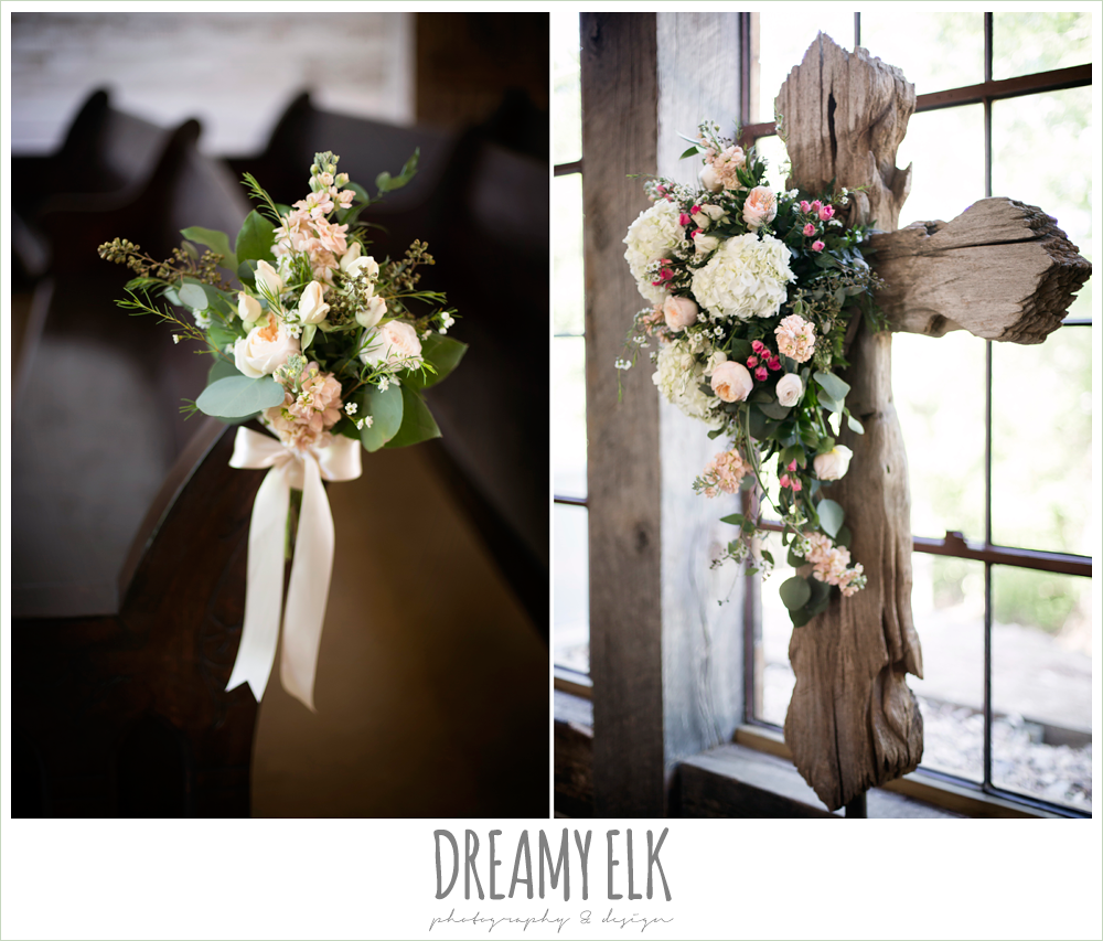 ceremony cross, carter's florist, aisle markers, aisle flowers, rustic chic, spring wedding photo, big sky barn, montgomery, texas {dreamy elk photography and design}