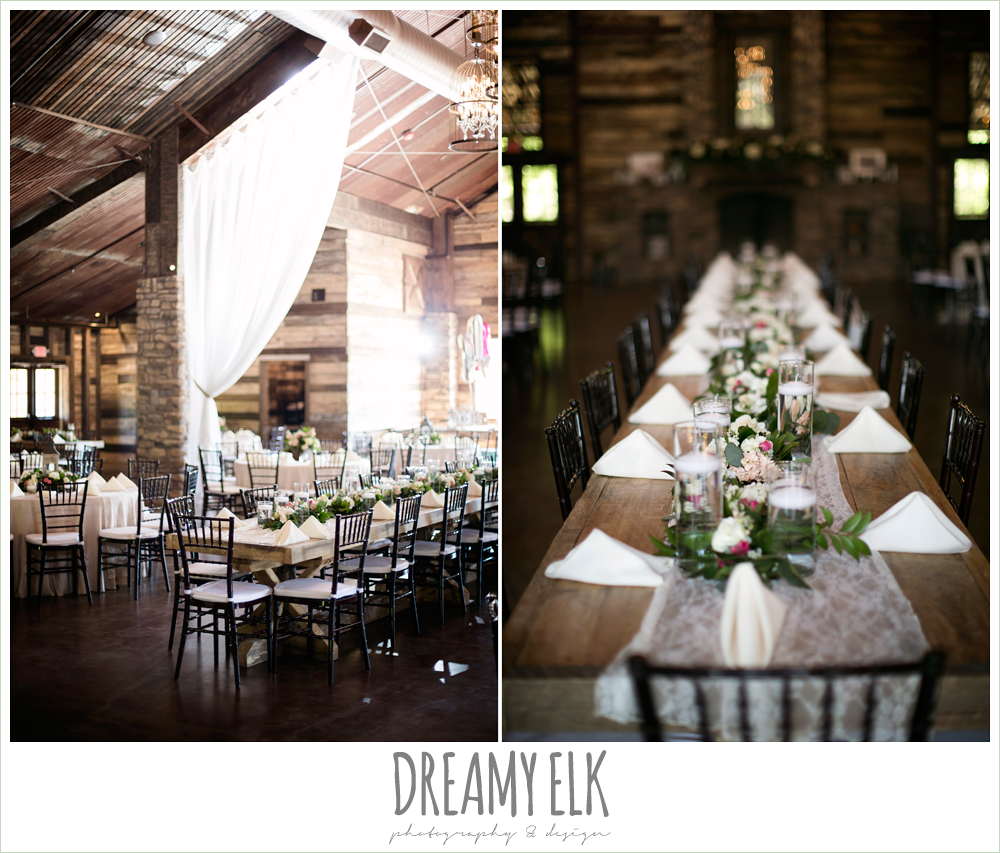 wedding reception decorations, rustic chic, spring wedding photo, big sky barn, montgomery, texas {dreamy elk photography and design}