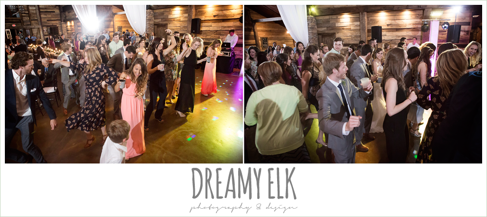 guests dancing at wedding reception, rustic chic, spring wedding photo, big sky barn, montgomery, texas {dreamy elk photography and design}
