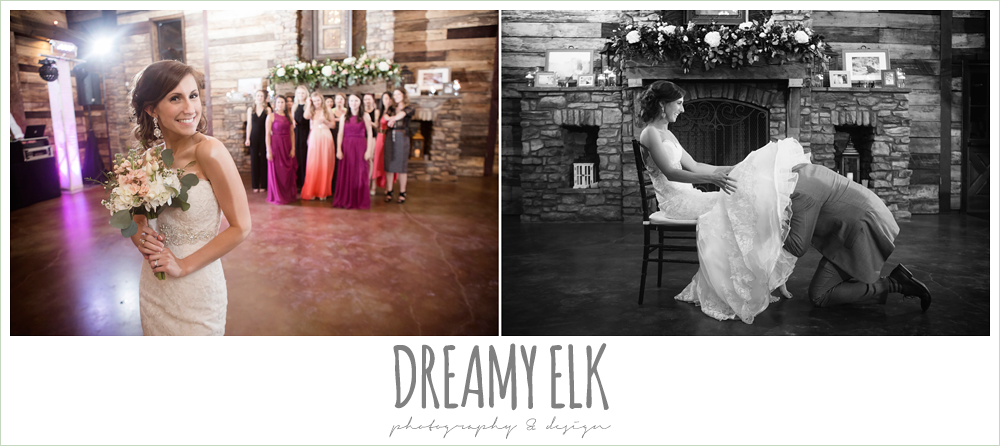 throwing the bouquet, groom getting garter, wedding reception decorations, rustic chic, spring wedding photo, big sky barn, montgomery, texas {dreamy elk photography and design}