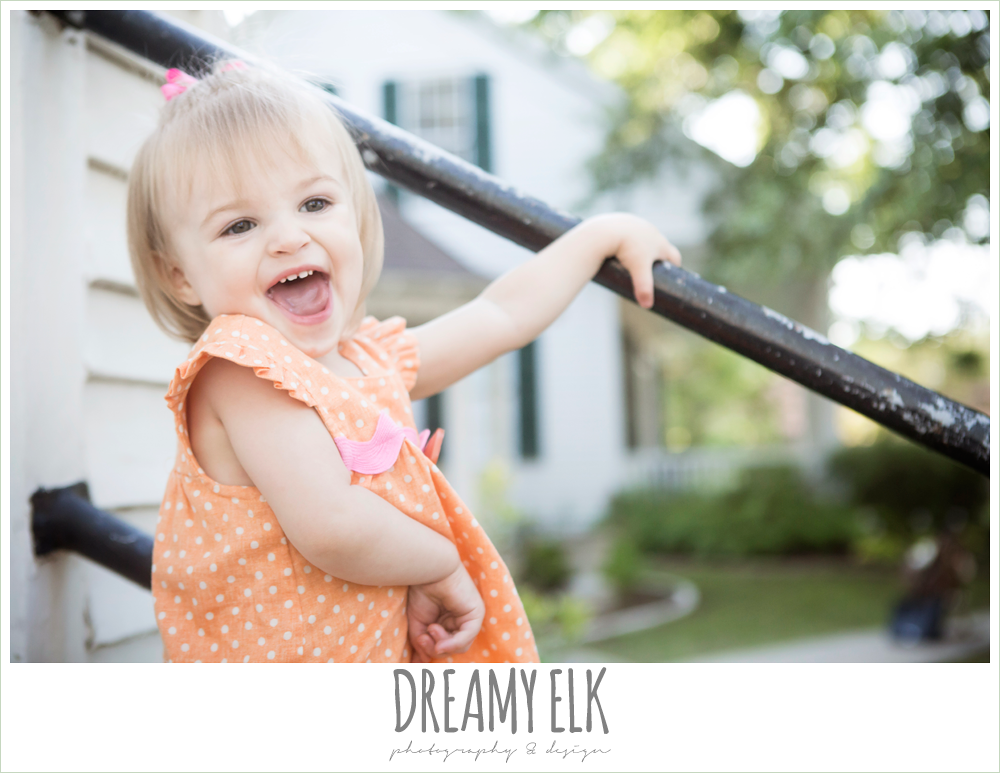 18 month old photo, photo of girl toddler laughing outside