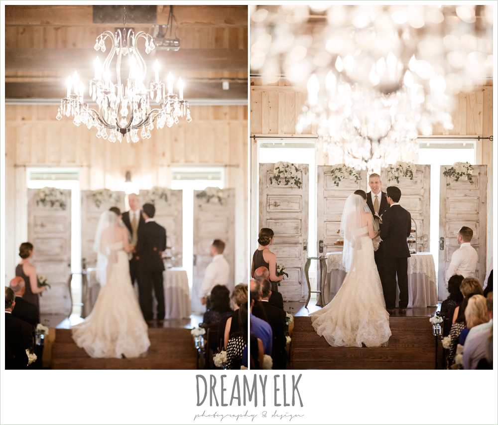 indoors wedding ceremony, navy gray and white wedding, spring rainy wedding at crystal springs, houston, texas {dreamy elk photography and design}