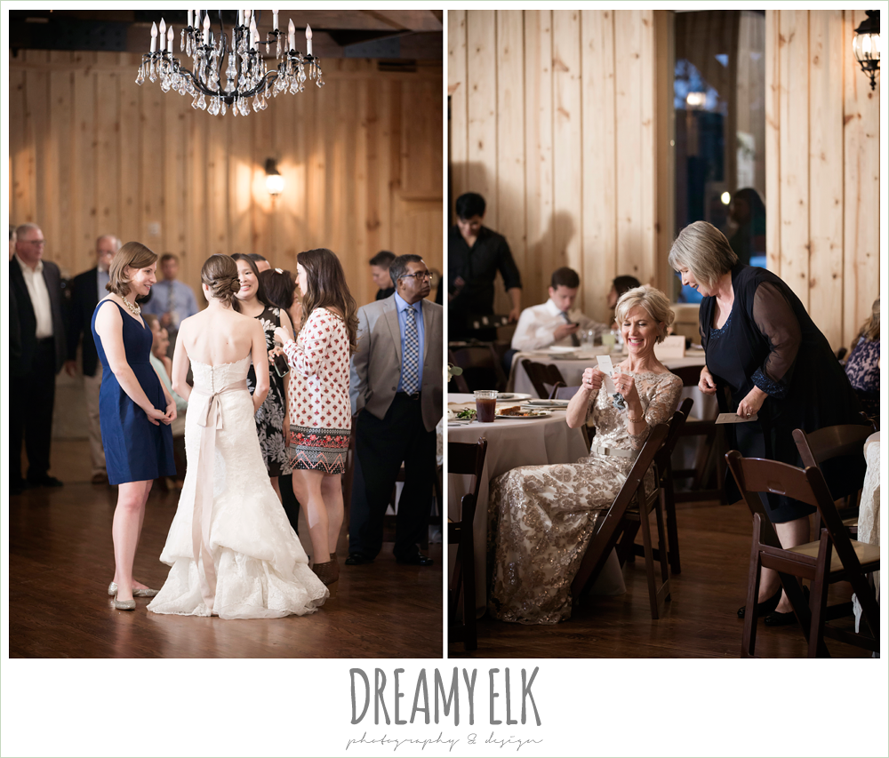 rustic chic wedding reception, navy gray and white wedding, spring rainy wedding at crystal springs, houston, texas {dreamy elk photography and design}