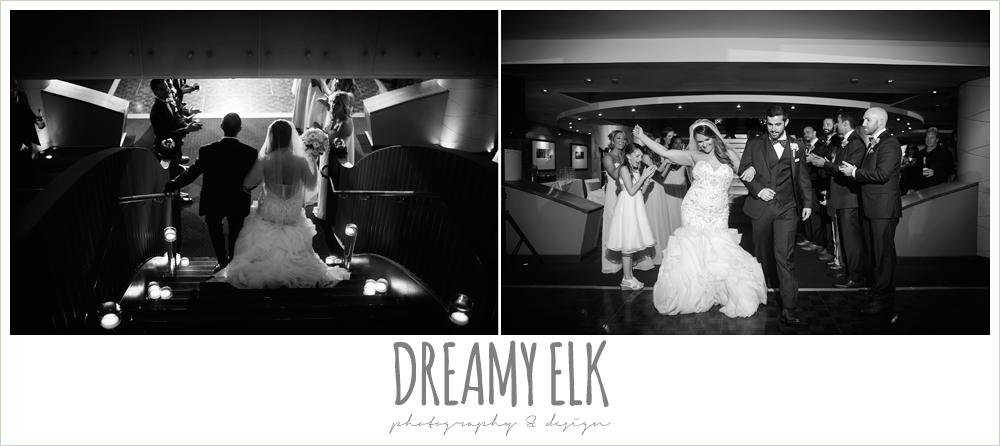 bride and groom entering reception, spring wedding, magnolia hotel, houston, texas {dreamy elk photography and design}