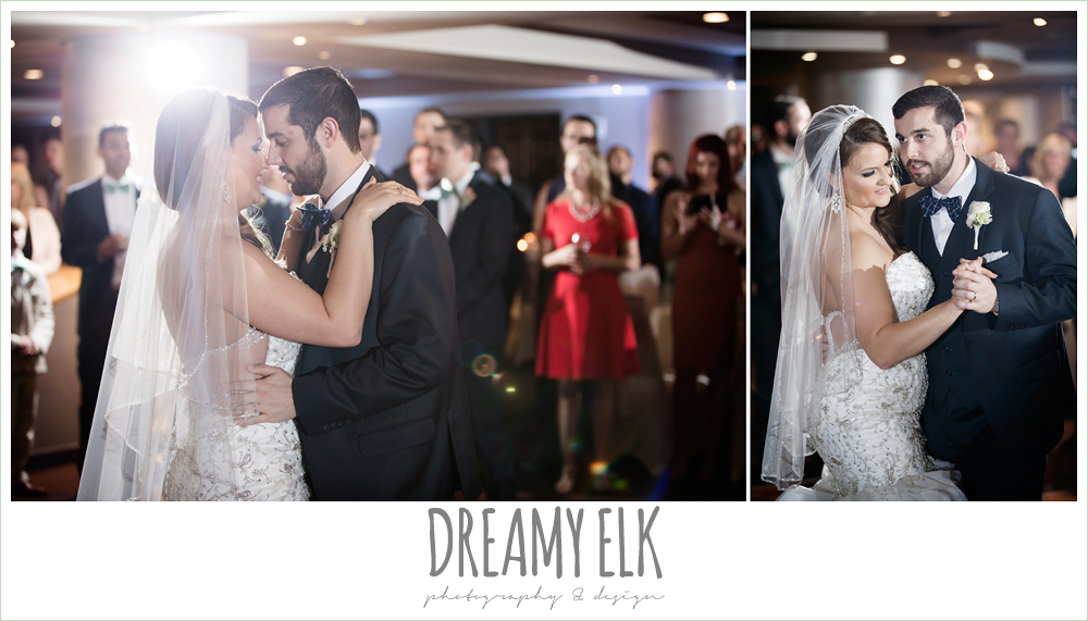 bride and groom first dance, spring wedding, magnolia hotel, houston, texas {dreamy elk photography and design}