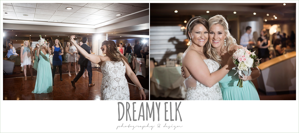 bouquet toss, spring wedding, magnolia hotel, houston, texas {dreamy elk photography and design}