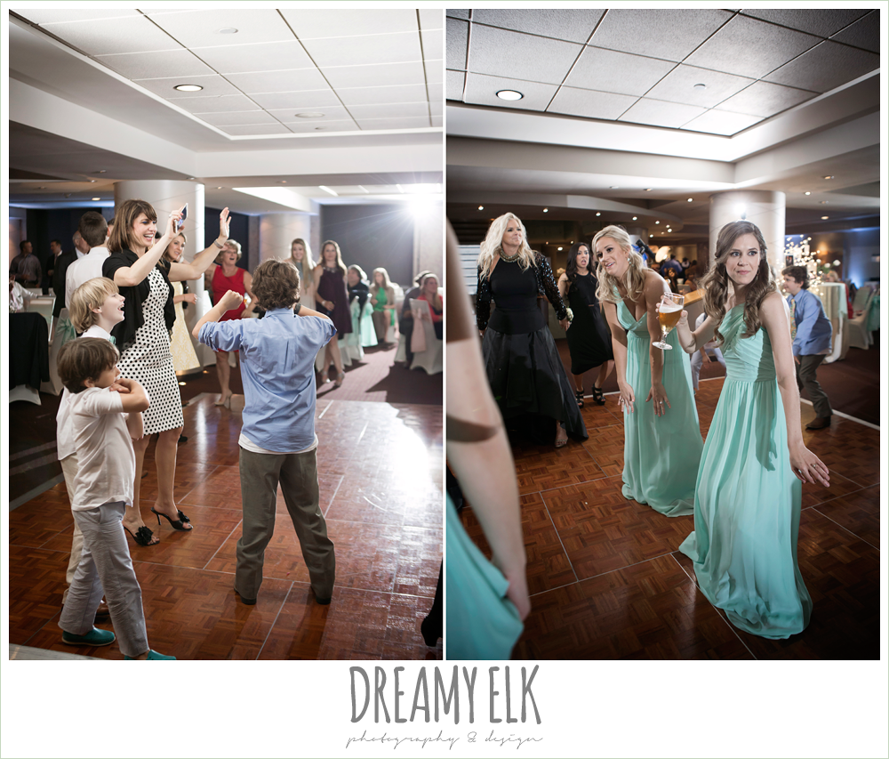 guests dancing at wedding reception, spring wedding, magnolia hotel, houston, texas {dreamy elk photography and design}